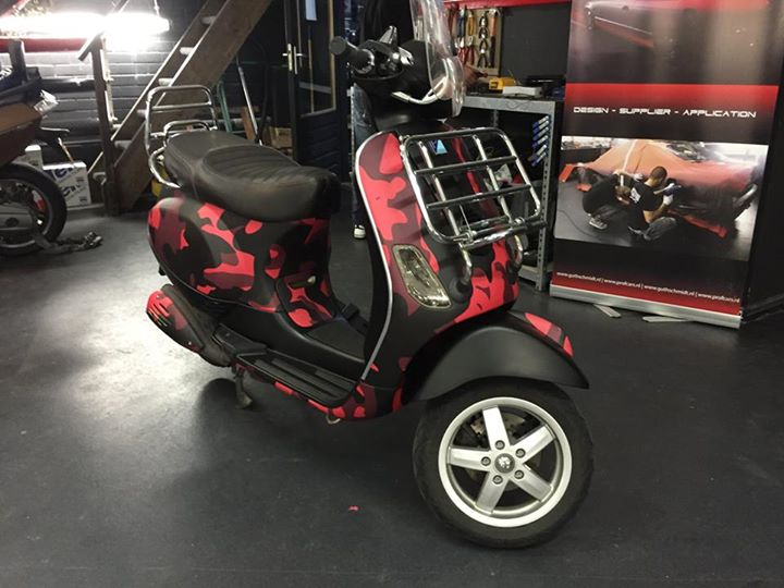 Scooter wrapping